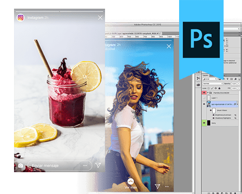 Template Instagram Stories Photoshop